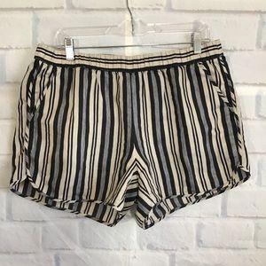 Madewell Striped Linen Blend Shorts
